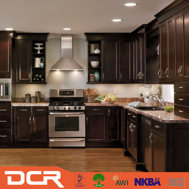 Termite Proof Pecan Wood Rustic Hickory Kitchen Cabinets ...