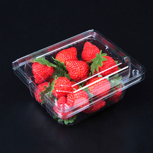 Wholesale biodegradable pvc pet disposable transparent plastic fruit blister packaging tray