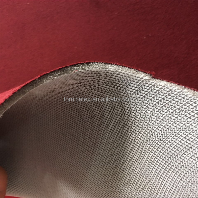 Sponge foam laminated Suede leather car roof cover/shoe cover fabric