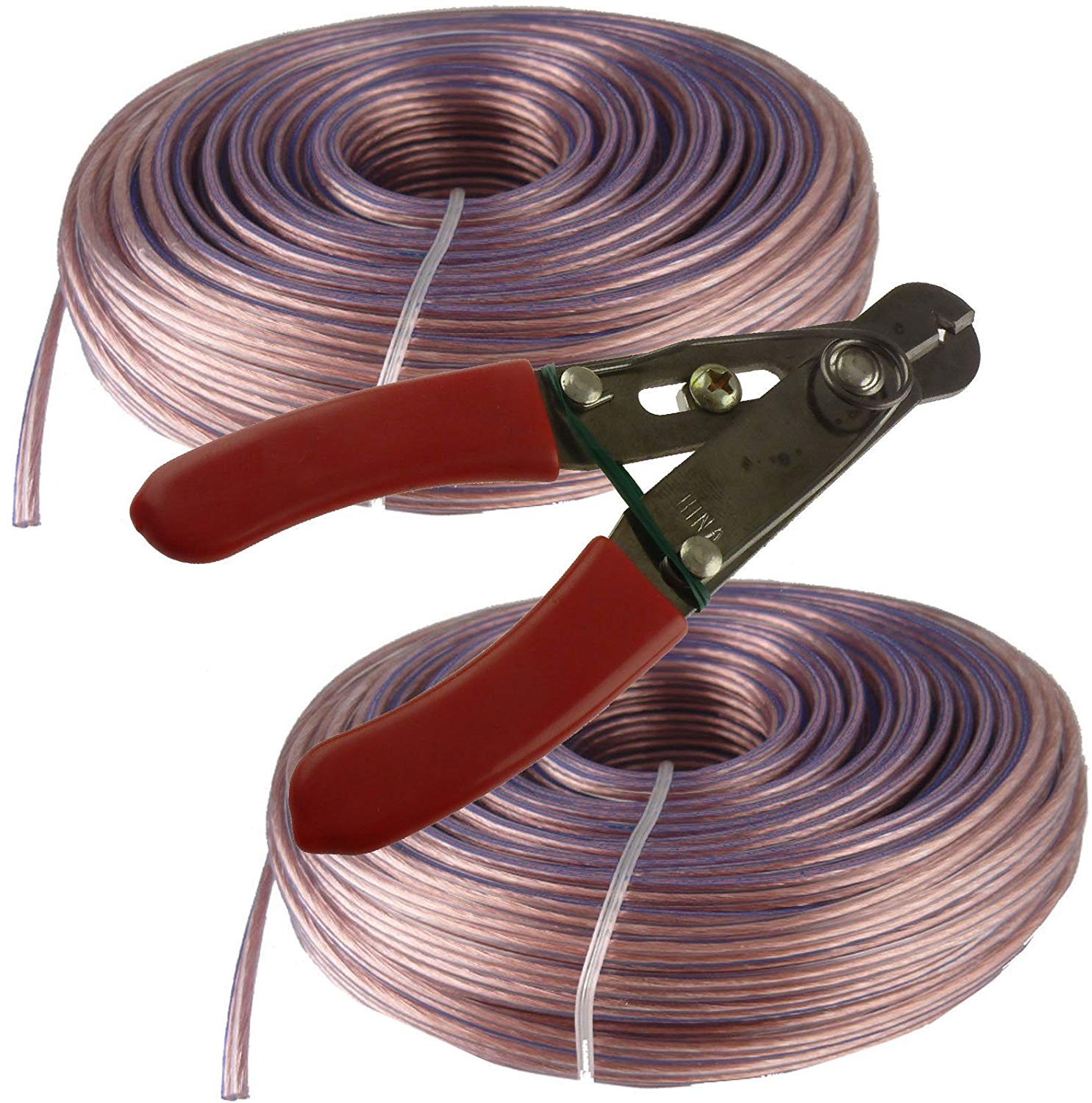 200'ft feet 18 awg ag Gauge Audio Speaker Wire Cable OFC Copper + Free Stripper!