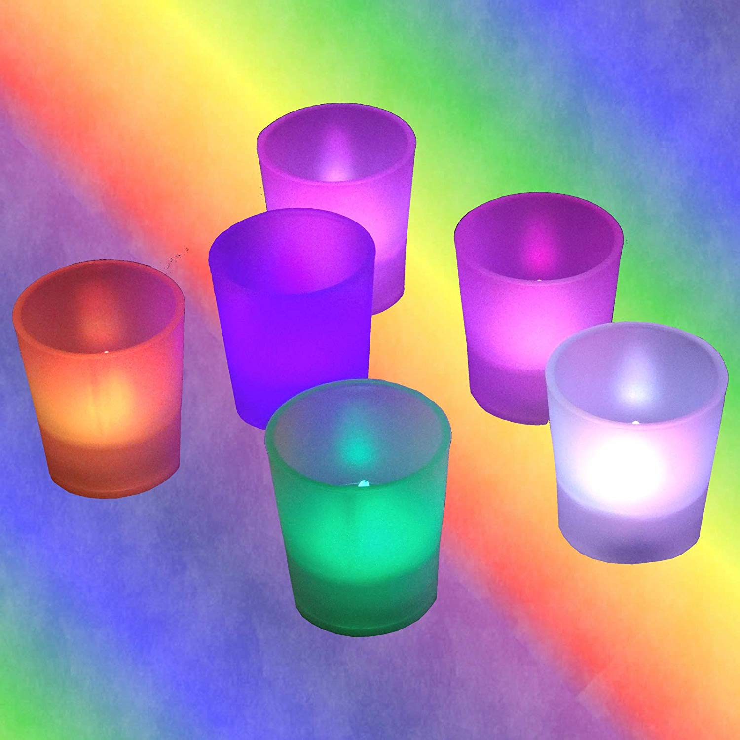 Multi Color Changing 6 Pieces Light Flameless LED Tealight Votive Tea Candles