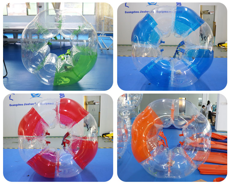 Manufacturer high quality inflatable bubble football human zorb ball for sport games