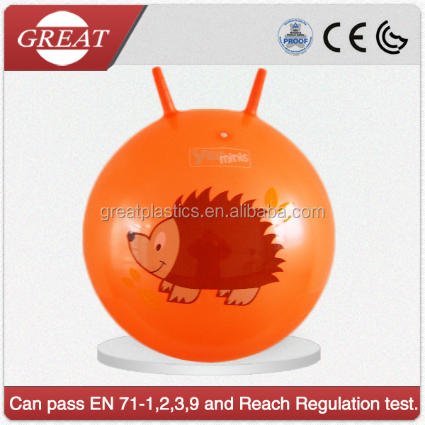 bounce hopper pvc inflatable toys ball space ball for kids with logo printed