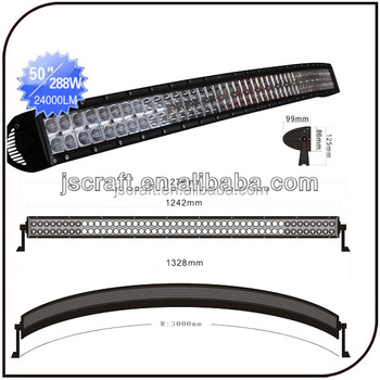 50 inch 288w spot flood combo beam dual curved radius cree led light 50 inch 288w spot flood combo beam dual curved radius cree led light bar aloadofball Image collections
