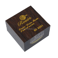 Leto NO8001 Wooden Box Round Golden Rosin for Violin Viola Cello Bows