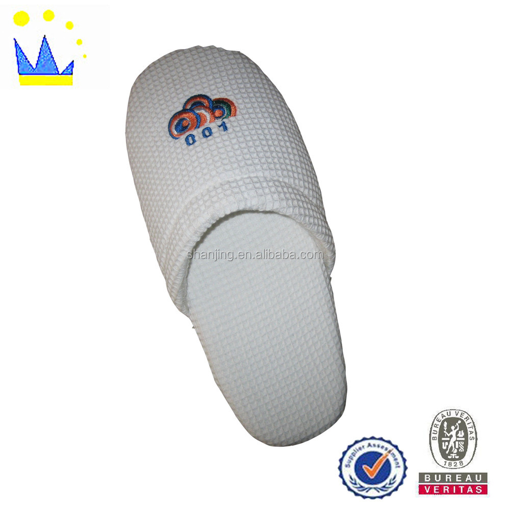 white waffle dot sole with 1.5cm sponge hotel slippers discount