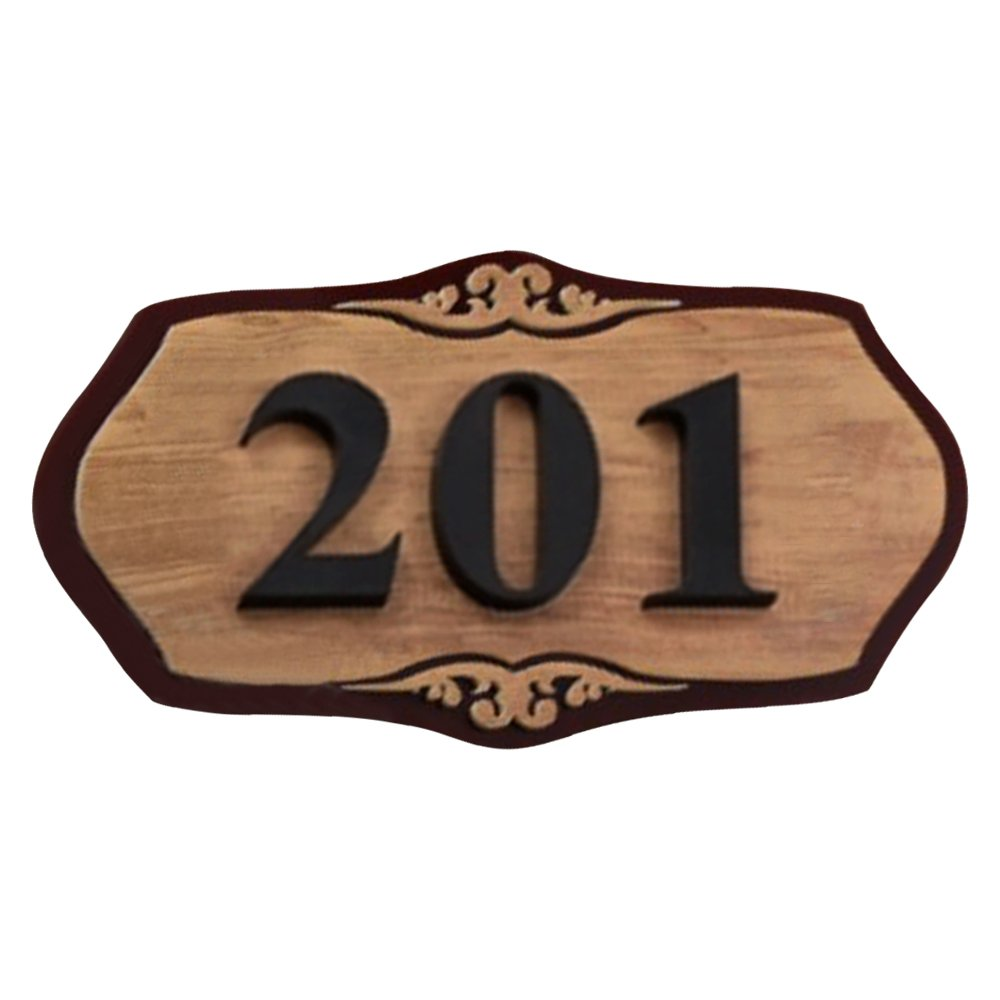 """Aspire Customized Home Address Sign, House Hotel Office Number Sign, Personalized Acrylic Address Plaque Sign-woodgrain-5.9"""" L x 11.8"""" W"""