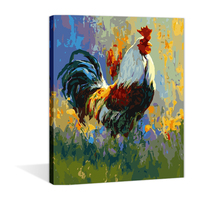 DIY Chinese chanticleer painting by numbers wholesale online for the study