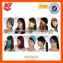 Custom Printed Wholesale Multifunctional Scarf Seamless Bandana Neck headgear scarf for Riding and Fishing Face Mask