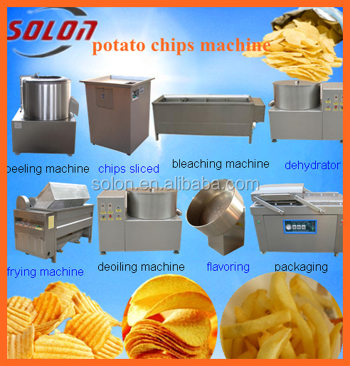 zhengzhou solon fresh potato chips making machine / small scale potato chips making machine / making baked potato chips