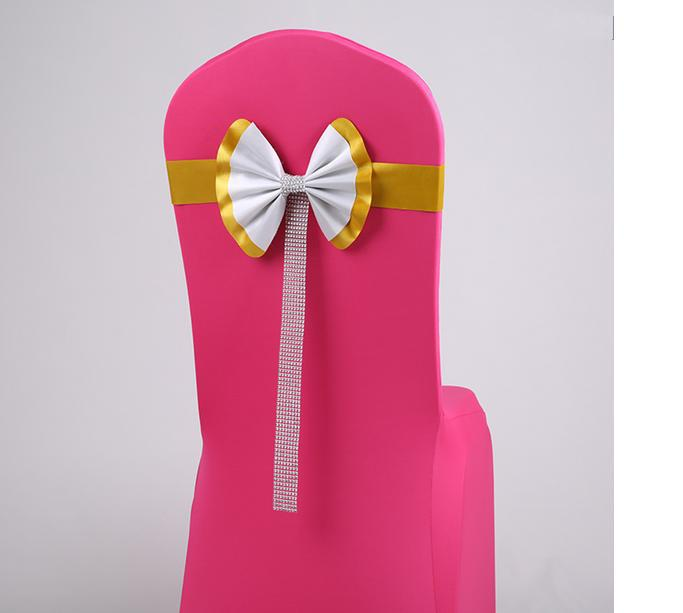 satin chair sashes,wedding chair bows and sashes wedding chair cover at factory price