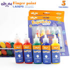 colourful 5 colors finger paint standard and non-toxic finger paint set