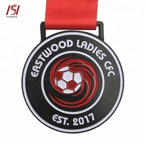 custom large Award sport soccer medals and ribbons for kids sports awards