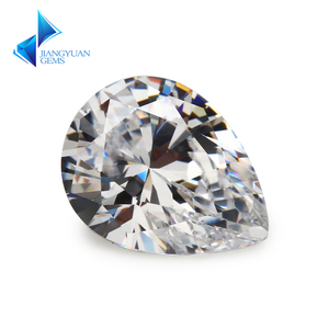 Pear shape custom made loose moissanite