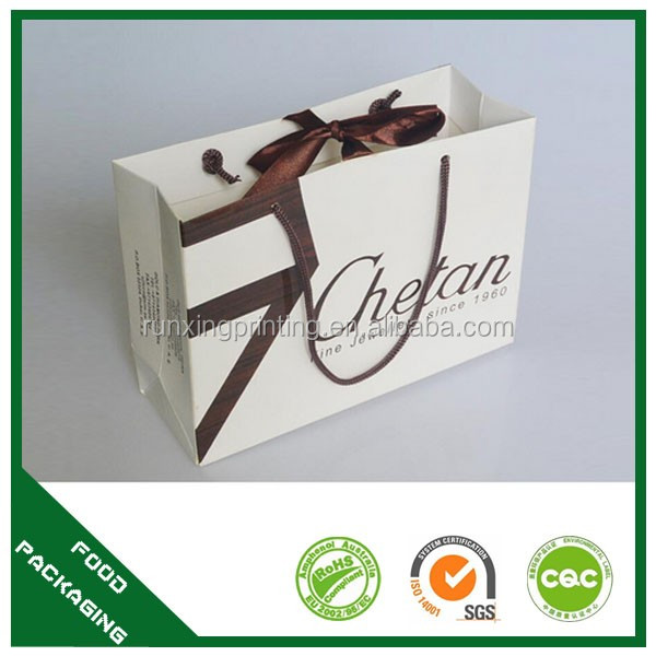 high end luxury dress paper bag with logo print