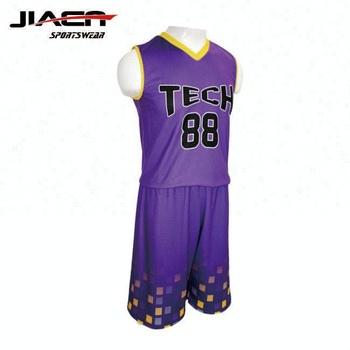 27261c6f3a3 Wholesale blank purple violet basketball uniforms sublimation print custom  logo reversible basketball jersey