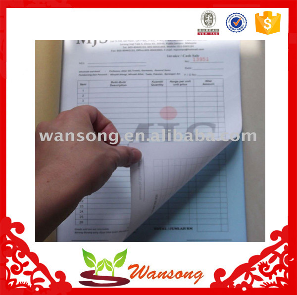 Factory cheap custom carbonless invoice book , invoice book printing