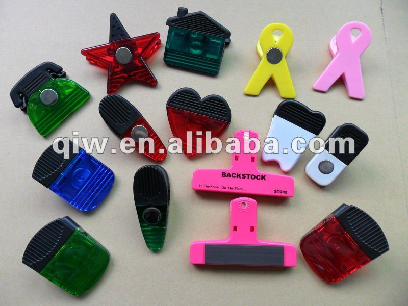 OEM Slender Tapered Magnetic Bag Clip,Magnet Alligator Clip