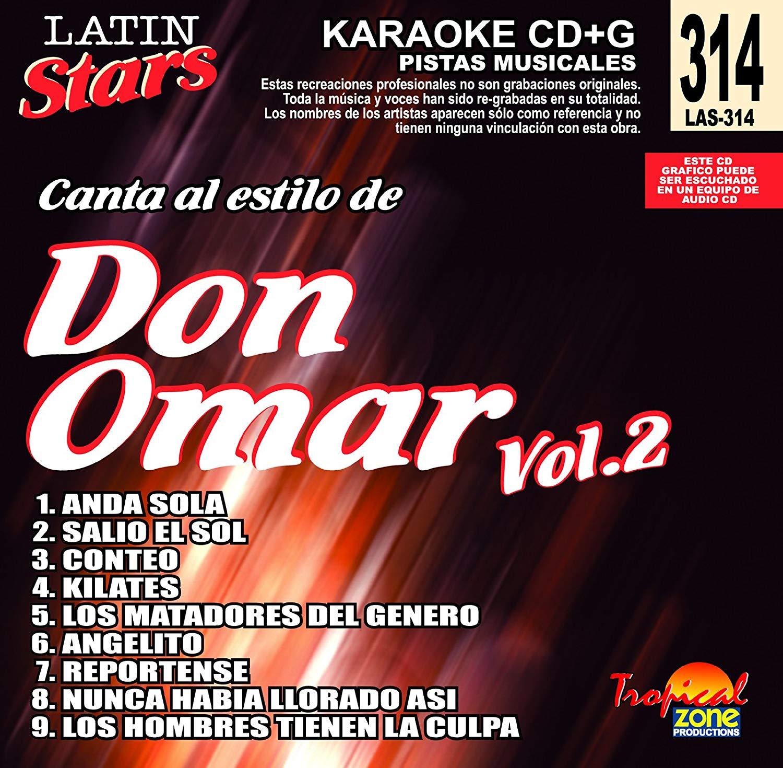 Karaoke Don Omar Vol. 2 Latin Stars 314