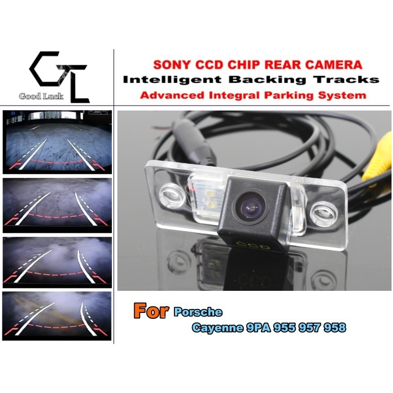 For Porsche Cayenne 9PA 955 957 958 Car Reverse Rear Camera with Parking Assistance Tracks Module