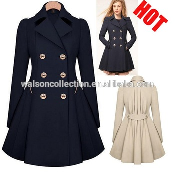 15c42e19b3 Hot jackets women 2019 winter womens clothes trench coat jacket double  button xxl size