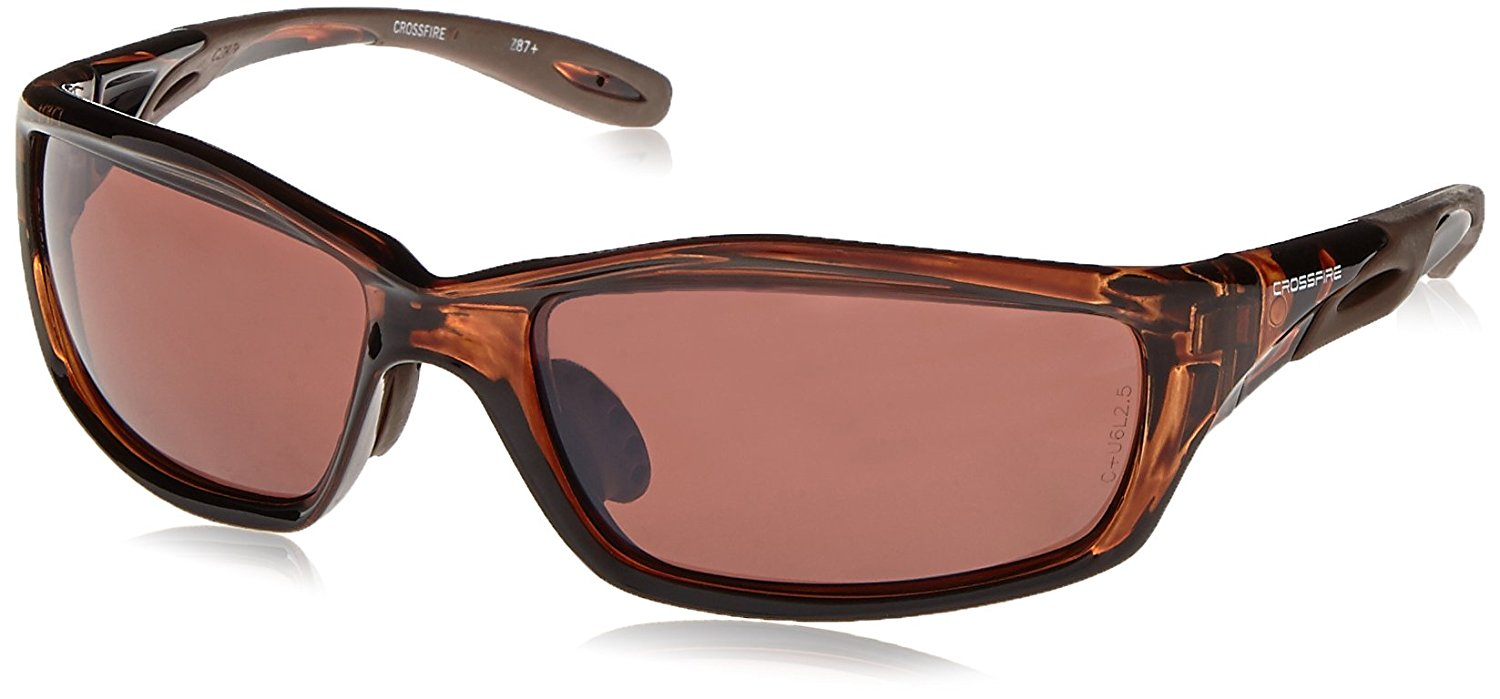 30426641c58 Crossfire 21126 Infinity Safety Glasses HD Brown Polarized Lens - Crystal  Brown Frame