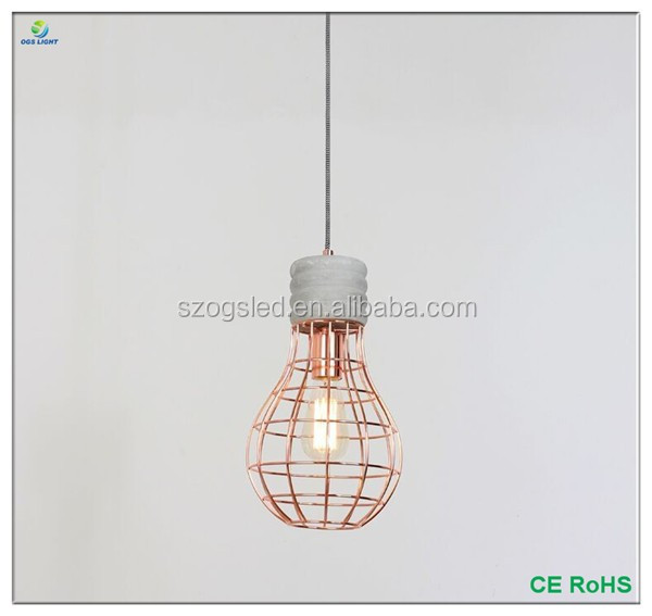 Creative Cement Modern Pendant Light Hanging Lamp for loft/coffee/restaurant