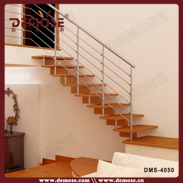 seguridad chapa de madera escaleras madera de lujo escaleras barandilla de vidrio escalera de