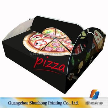 16 inch black delivery triangle pizza box pizza packing box with handle  sc 1 st  Alibaba & 16 Inch Black Delivery Triangle Pizza BoxPizza Packing Box With ...