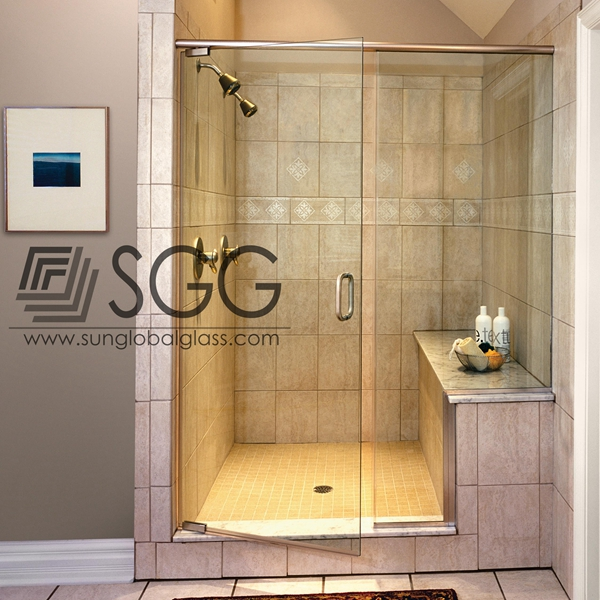 Frosted Glass Partition Frameless Smart Glass For Bathroom