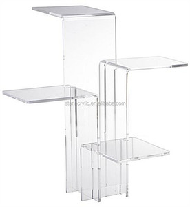 Acrylic Display With 4 Platforms Tiered Jewelry Cosmetics Risers Stands Show Cases Countertop Lucite Plexiglas Acrylic