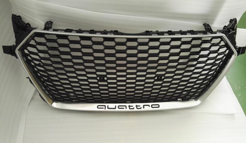 New Ttrs 8s Grill For Audi Tt 2015 2016 In Glossy Black Chrome Frame