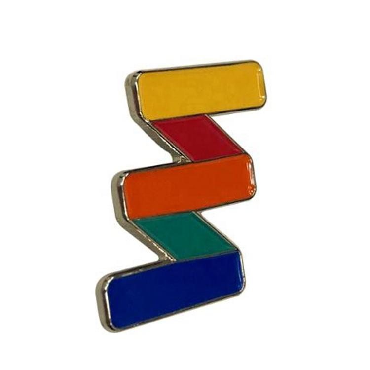 China Supplier Custom Metal Soft Hard Enamel colorful rainbow plate lapel pin