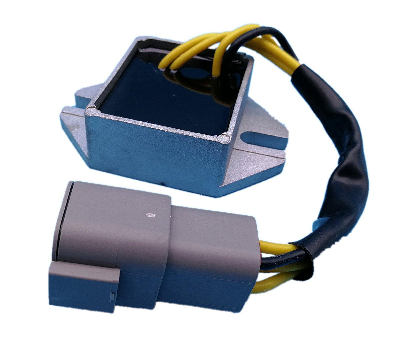 Generic Voltage Regulator for Ski Doo Snowmobile MX Z 380 ZX 440 500 550 Skandic Summit 2002 2003 2004 2005 2006 380F 440F 500F 550F 400 Replace 420888617 515175655 420-888-617 515-175-655 New Z25