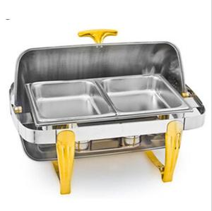 stainless steel roll top chafing dish