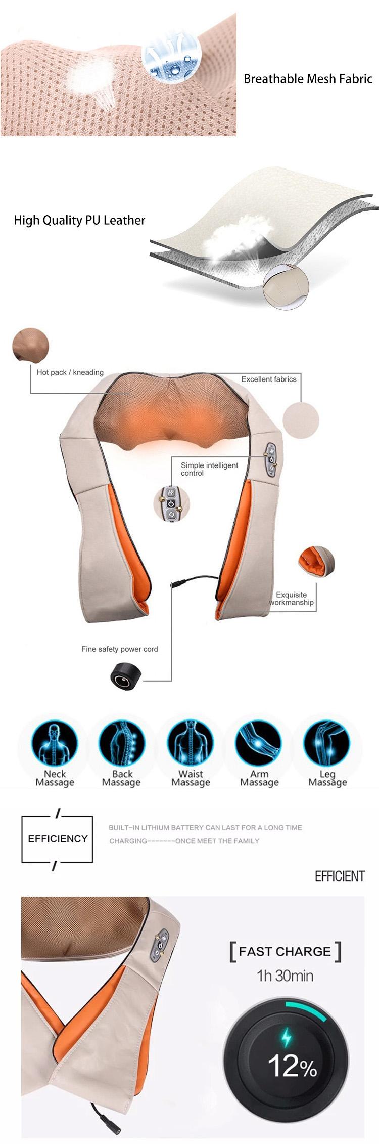 Kızılötesi yoğurma ısıtma verwarming geri ve boyun omuz masajı ağrı kesici