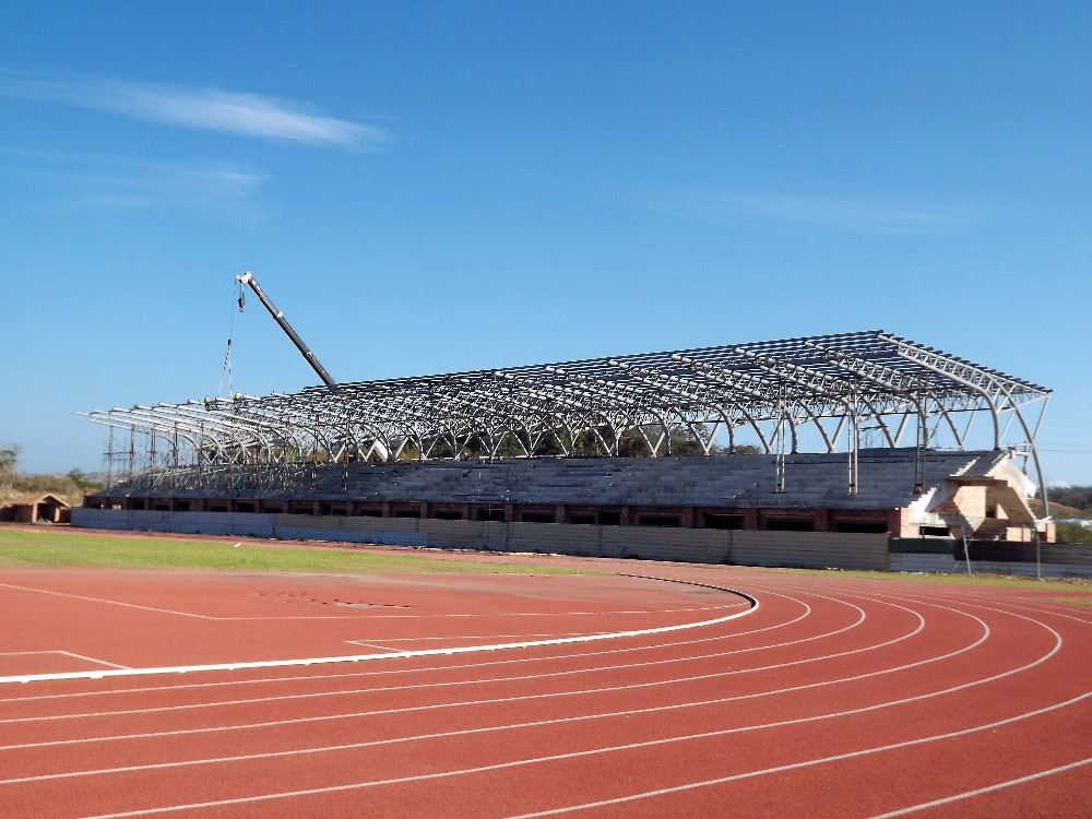 pre-engineering steel roof metal bleacher construction