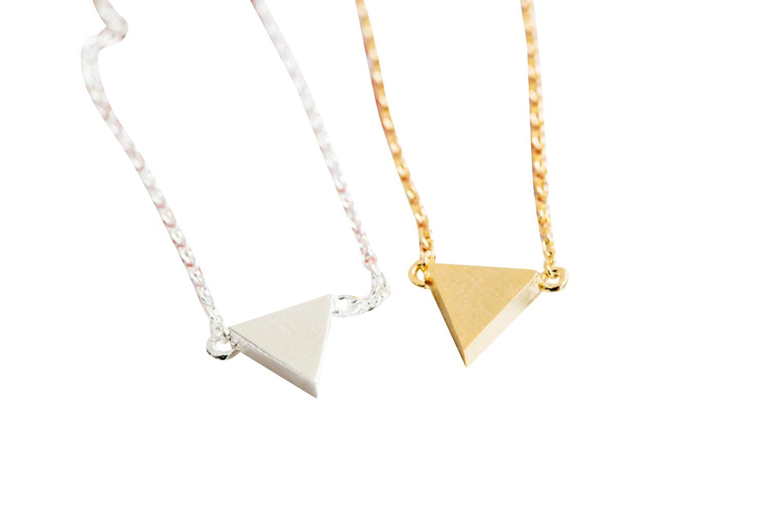 Upside Down Triangle Necklace-mn , triangle jewelry, triangle necklace, triangle shape jewelry, triangle shape necklace, triangle jewellry, geometric