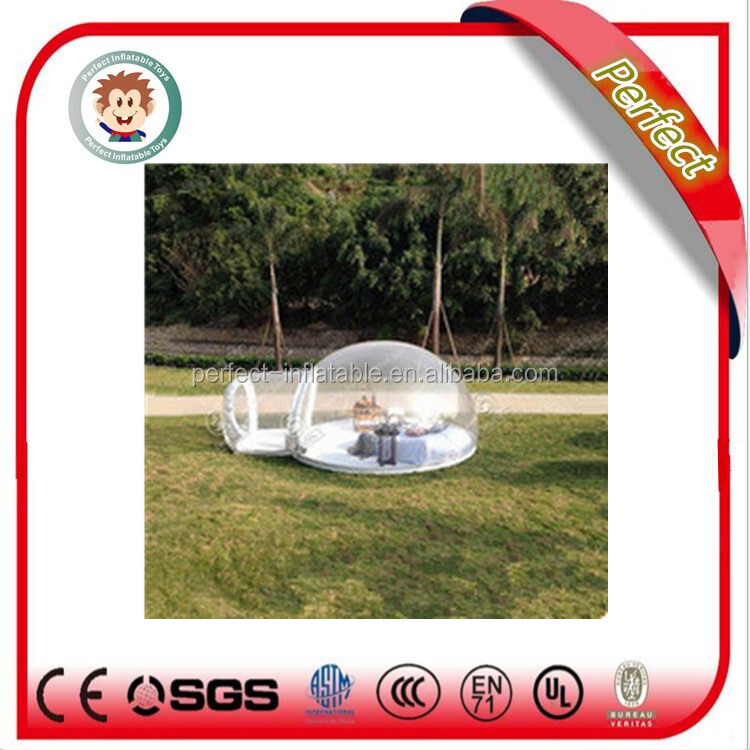 Hot sale camping inflatable clear tent, inflatable transparent tent