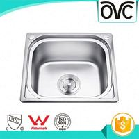 Top selling various styles single bowl polished stainless steel kitchen sink for hotel