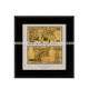 Souvenir Gift Gold Foil 24k 999.9 fine gold foil greece 10000 Pure Gold Plated Banknote With Wooden Frame For Value Collection