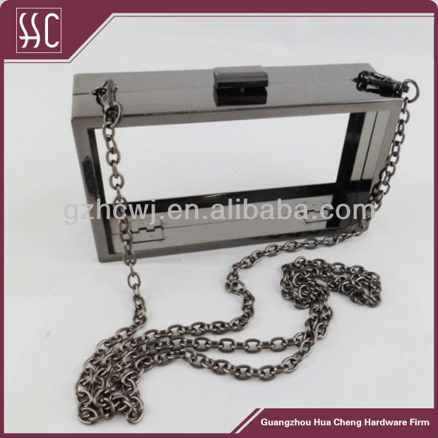 gun metal purse framebox clutch framehard shell clutch bag metal frame with chain buy box clutch frameclutch framespurse frame product on alibabacom - Metal Purse Frames
