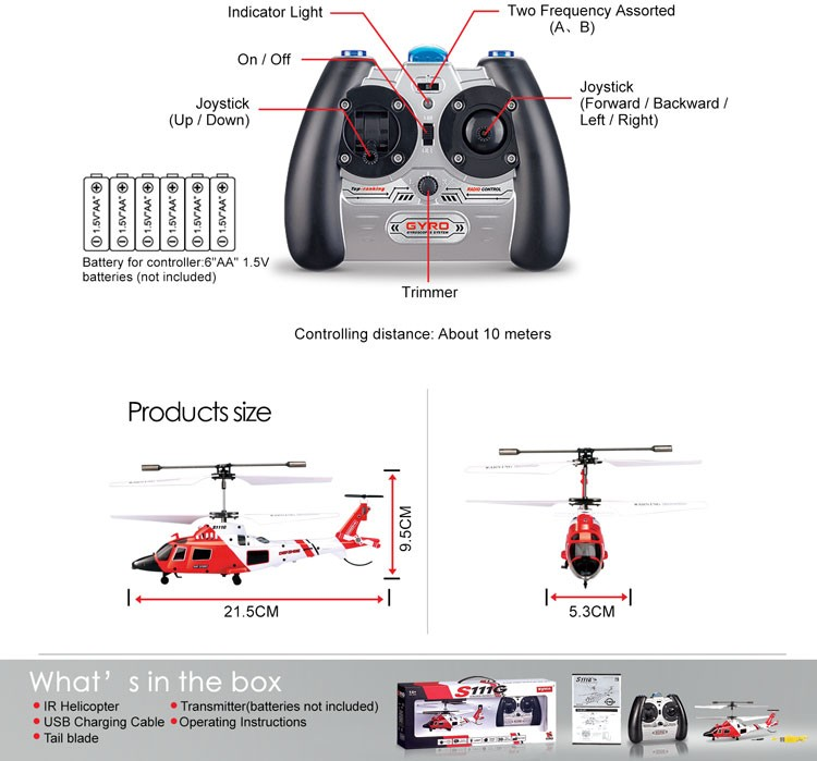 3.5 Channel Mini Remote Control Aircraft Chinese RC Helicopter