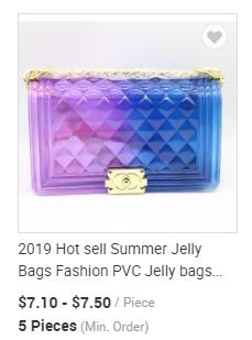 2019 Hot Verkoop Diamond Vorm Jelly Tassen Mode Siliconen Jelly Schoudertassen Kleurrijke Snoep Zakken MOQ 1 Stuk Kleuren optie