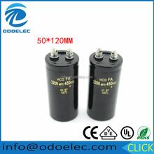 Aluminum electrolytic capacitor 450V 2200uf 450V 50*120mm 105C 450VDC 2200MFD 450VDC