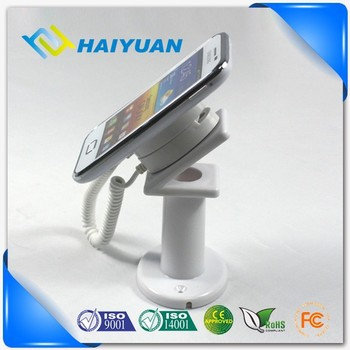 Table top mobile phone mechanical security display plastic holder