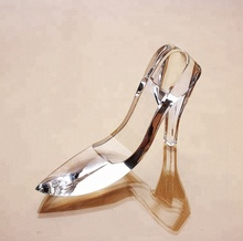Custom Crystal high heel Shoes crafts Crystal Wedding Shoes for Wedding favor gift
