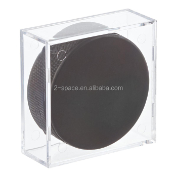 Clear Acrylic Plastic Small Ball Puck Display Cubes Case Box