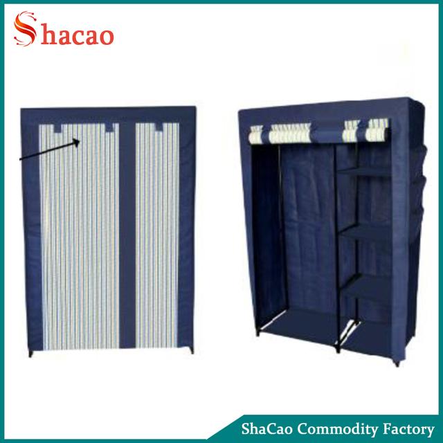 Protable Home Foldable Canvas Clothes Closet Storage Organizer Non Woven  Fabric Wardrobe
