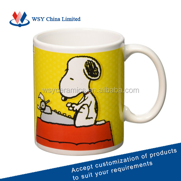 Customized snoopy mug for promotion